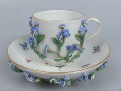 Antique Meissen Porcelain Flower Encrusted Cup Saucer Tea Coffee PC | eBay