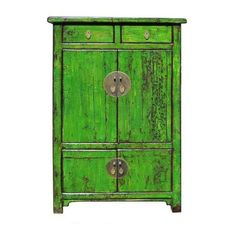 Chinese Bright Green Lacquer Restored Cabinet - Asian - Furniture - other metro - by Golden Lotus Antiques Asian Furniture, Chinese Furniture, Home Furniture, Furniture Design, Oriental Furniture, Furniture Storage, China Cabinets And Hutches, Accent Chests And Cabinets, Cupboards