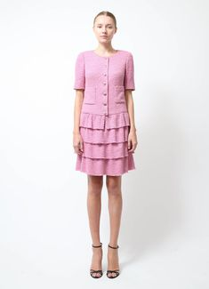 Chanel | Pink Bouclé Dress | Order this item on RESEE.com |