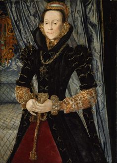 Lady Eleanor (Brandon) Clifford, Countess of Cumberland. Niece of King Henry VIII. I love the gold edged ruff