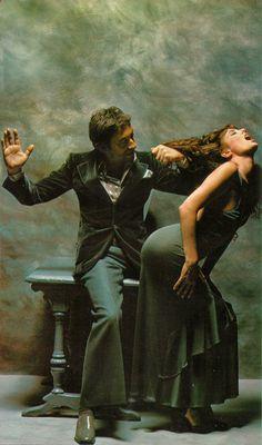 Serge Gainsbourg giving Jane Birkin a spanking.