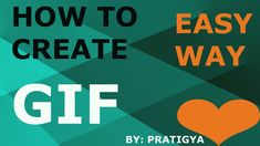 How to create GIF Hello guys.my name is Pratigya welcome to my channel ABOUT THIS VIDEO- In this video I tried to learn you how to create GIF in Photoshop. Photoshop 7, I Tried, Science And Technology, Create, Image