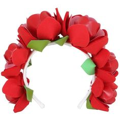 Francesco Ballestrazzi Women Roses Headband (975 PEN) ❤ liked on Polyvore featuring accessories, hair accessories, red, head wrap hair accessories, red hair accessories, headband hair accessories, red rose headband and rose headband