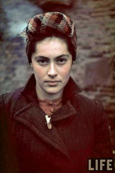 Jewish woman from the ghetto of Kutno in Poland, 1939--- Could have been anyone of us....