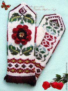 Krāsaini cimdu raksti - Rokdarbu grāmatas un dažādas shēmas Fingerless Mittens, Knit Mittens, Knitted Gloves, Crochet Hand Warmers, Stitch Patterns, Knitting Patterns, Wrist Warmers, Fair Isle Knitting, Yarn Projects