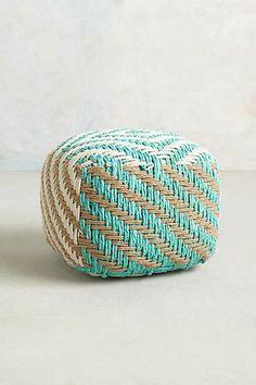 Small Diamond-Weave Pouf