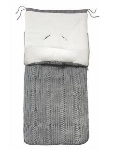 Chancelière VERTBAUDET en tricot GRIS - vertbaudet enfant