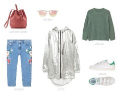 rainy weekend by ireneconcello on Polyvore featuring MANGO, adidas Originals, Mansur Gavriel and Ray-Ban