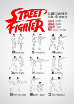 Train like a Street Fighter and gain speed and power as you learn to control your body.