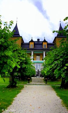 Refsnes Gods Jeløya , Norway  © Kari Meijers Norway Hotel, Iceland Island, Beautiful Norway, Visit Norway, My Dream, In This Moment, Mansions, Country, Architecture