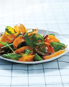 Shaved Raw Butternut & Carrot Salad with Dates and Sunflower Seeds