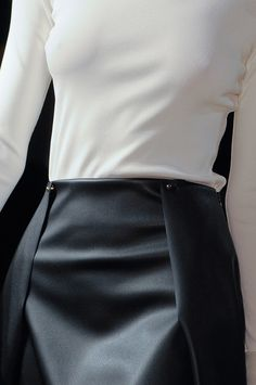 Chic Simplicity - black & white fashion details // Genny Fall 2013