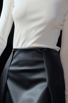 Chic Simplicity - black & white fashion details // Genny Fall 2013