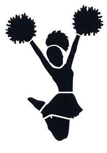 cheerleader+silhouette | Cheer Scorpion Silhouette I can ...