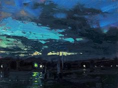 Modern Impressionism, Sky Painting, Canvas Paintings, Nocturne, Fine Art Gallery, Ciel, Abstract Landscape, Chris Long, Illustration Art