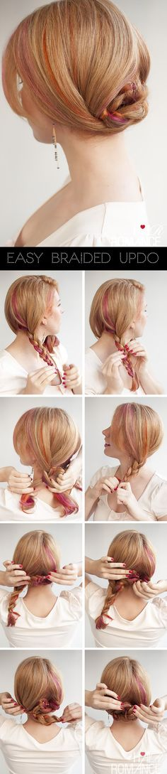 Hair Romance - easy braid updo hairstyle tutorial