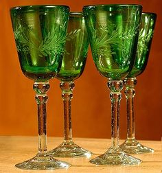 Green Holiday Glasses