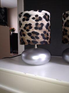 Oude lamp gepimpt Met behang en zilver spuitbus