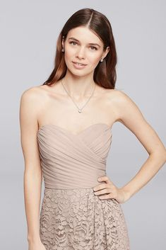 f291dd688b3 Davids Bridal Short Bridesmaid Dress with Sweetheart Neckline Style F19217  Iris 12    You can