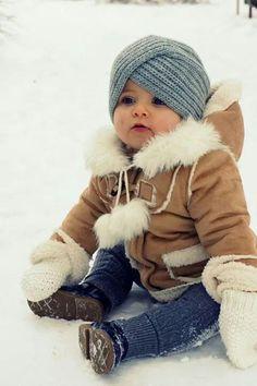 how cute! love his hat