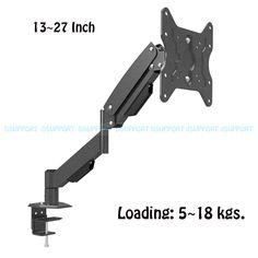 L153 Heavy Duty Gas Spring Desktop Monitor Arm Full Motion TV Mount Bracket All-in-One PC Table Mount