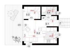 Dom modułowy, nowoczesny - BoXi1. Dom do 35m2. CONTiBOX Floor Plans, Studio, Ali, Studios, Ant, Floor Plan Drawing, House Floor Plans