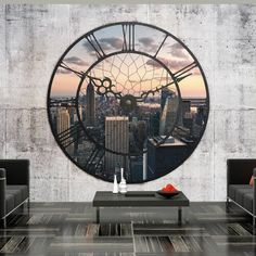 Star Wallpaper, Embossed Wallpaper, Wall Wallpaper, Clock Decor, Wall Decor, Wall Design, House Design, Home Nyc, Buy Wallpaper Online