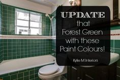 Ideas To Update And Modernize Forest Green In A Bathroom Kitchen Countertop Tileore