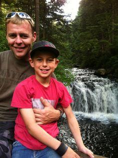 My husband Domonic and my son Kaden camping