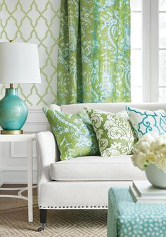 Light Colored Pillows For The Couch. Mirador From Imperial Garden  Collection From Thibault