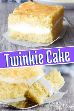 Cake Mix Desserts, Cake Mix Recipes, Cupcake Recipes, Easy Desserts, Baking Recipes, Delicious Desserts, Twinkie Cake Recipes, Yummy Food, Twinkie Desserts