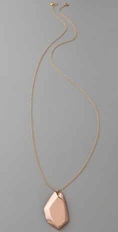 gorjana long faceted necklace