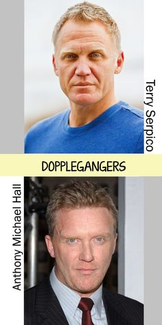 Weird....check out this doppleganger duo! I was watching an episode of Drop Dead Diva and swore that Anthony Michael Hall was in it. I didn't find the episode on his IMDB page so I went to see who it was. Wow. Maybe AMH has an unknown twin brother.