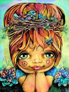 ☯☮ॐ American Hippie Bohemian Psychedelic Art ~ Dreamy Girl