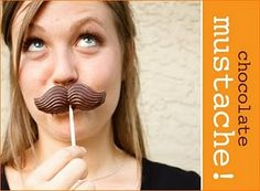 chocolate mustaches!