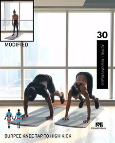 Add this fat burning exercise to your HIIT workout circuit to lose weight and build muscle. Hiit Workout Videos, Full Body Hiit Workout, Hiit Workout At Home, Fitness Workout For Women, Fitness Workouts, At Home Workouts, Workout Circuit, Workout Partner, Body Workouts