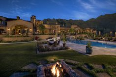 Courtyard / Backyard of a spectacular luxury estate mediterranean exterior