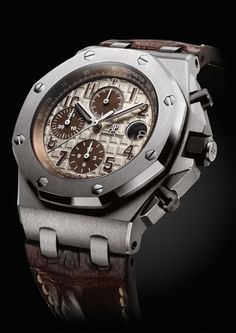 "Audemars Piguet Royal Oak Offshore Chronograph ""Safari""  For more Audemars Piguet visit the Watch Salon in London Jewelers Americana Manhasset or call 516 627 5164"