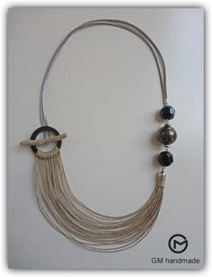 Driftwood necklace linen necklace