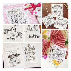 Ich liebe Handlettering <3 tolle selbstgemachte Grusskarten für Freunde & Familie #naehfein #handlettering #grusskarten #mitliebe #selbstgemacht