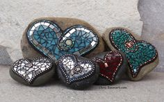 New Rock Mosaic Hearts for Etsy | by Chris Emmert