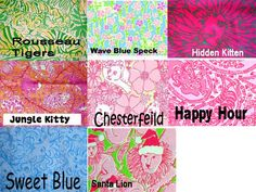 Lilly Pulitzer Line IDs - Lions/Tigers Prints