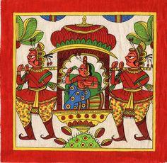 images of phad painting - Yahoo India Image Search results Mughal Paintings, Indian Art Paintings, Black Canvas Paintings, Canvas Art Prints, Phad Painting, Painting Art, Indian Traditional Paintings, Kalamkari Painting, Illumination Art