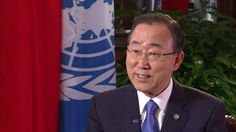 Ban Ki Moon interview with Chinese talk show host Ms Yang Lan for Weibo