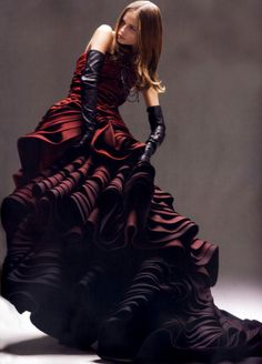 Natasha Poly in Christian Dior Haute Couture for Vogue Japan May 2007