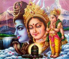Shiva - Parvati - Ganesha (via The World of Shiva Parvati) Shiva Parvati Images, Mahakal Shiva, Shiva Art, Lord Shiva Hd Images, Ganesh Images, Ganesh Ji Photo, Shiva India, Lord Shiva Sketch, Shiva Shankar