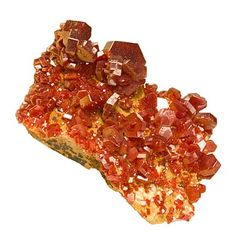 Vanadinite crystals from Morocco.
