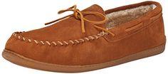 Minnetonka Men's Hardsole Pile-Lined Slipper - http://flippshop.com/?product=minnetonka-mens-hardsole-pile-lined-slipper