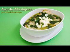 """A video - receita chama-se """"açorda alentejana"""" mas no fundo é uma """"sopa alentejana"""".. em todo o caso é uma receita simples, tradicional e boa."""