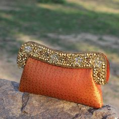 http://www.banyancraft.com/collections/necklaces/products/necklace-158 Golden Gate Clutch #handmade #buydesignerclutchesonline #germany #fashion #style #india